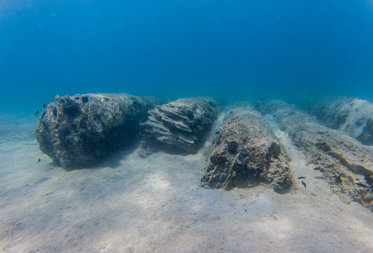 colonne romane porto cesareo diving